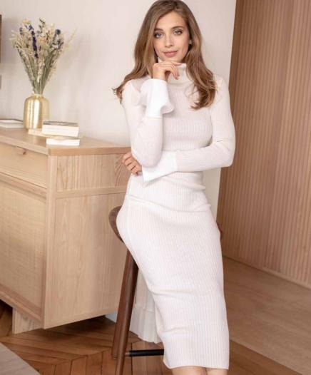Robe White Dress