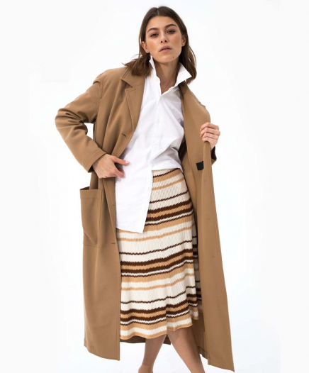 Trench Belted Wool