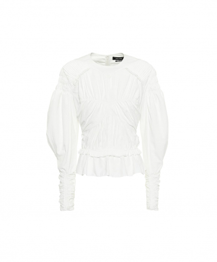 Top Ullo Ruched Blanc