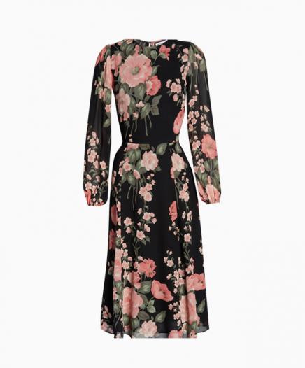 Robe Luanne Floral Print Long