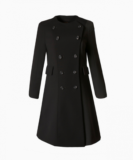 Manteau Wool Noir