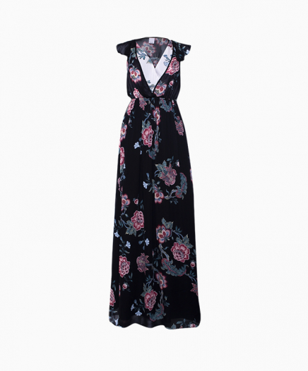 Robe Floral Noeud