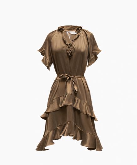 Robe Silk Ruffle