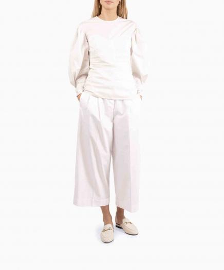 Pantalon Taille Haute Blanc