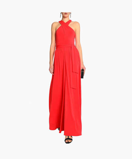 Halterneck Red Dress