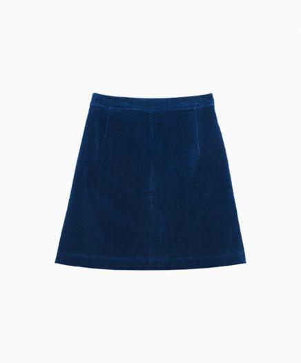 Jupe Velours Bleu