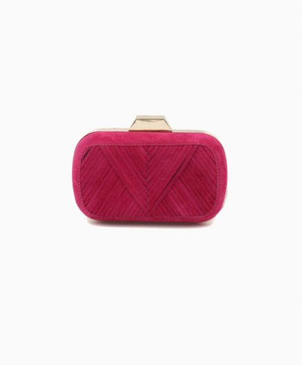 Shell Fuschia clutch