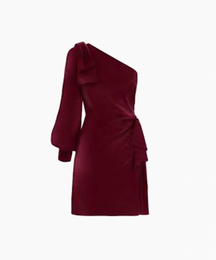 Robe Maples Bow Burgundy