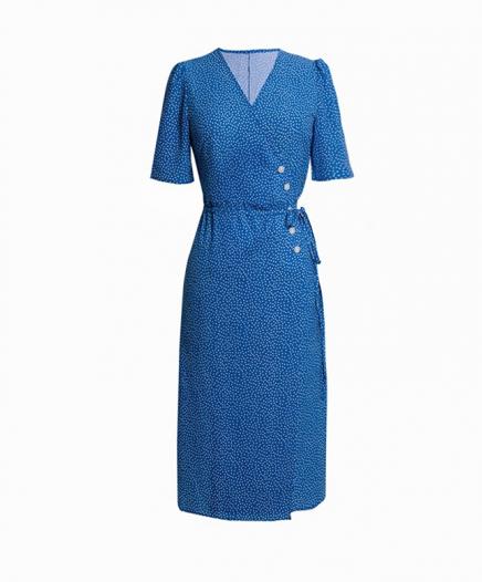 Robe Blue à pois