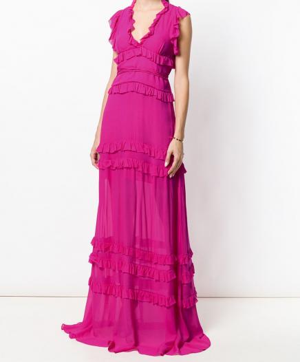 Robe Maxi Ruffles Pink
