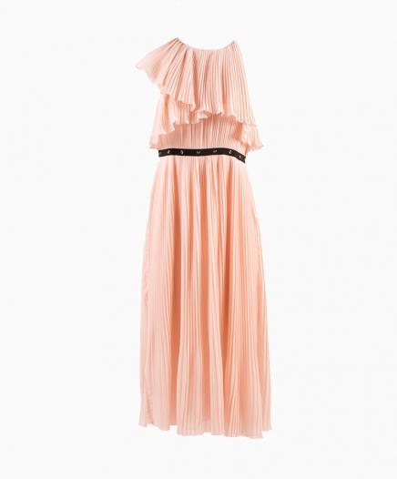 Pleated Nude dress