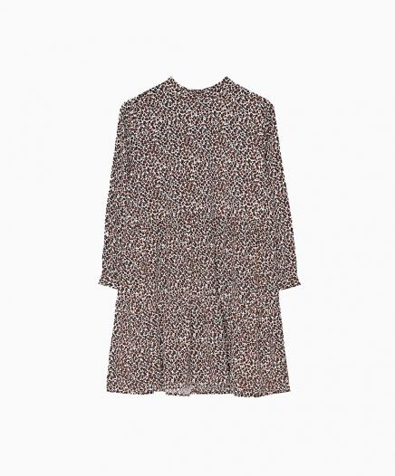 Robe Animal Print Marron