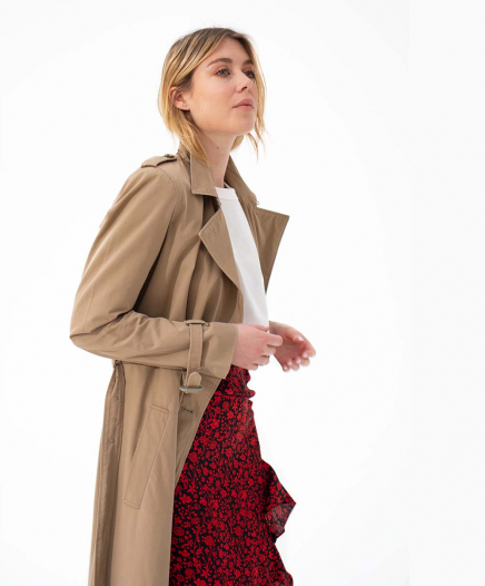 Manteau Trench Taupe