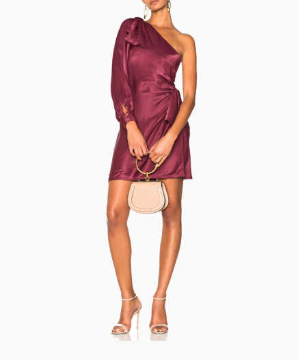 Maples Bow Burgundy dress