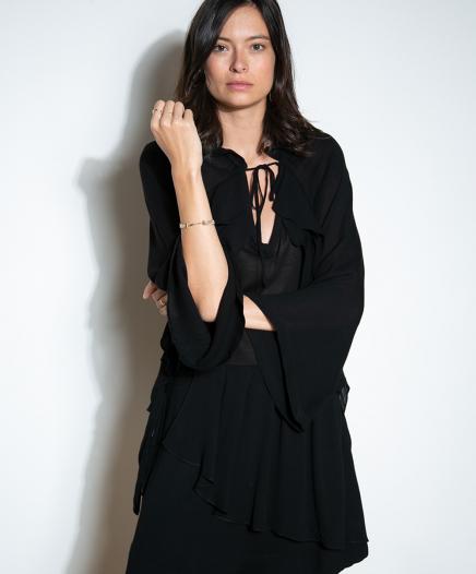 Robe Tie Noire