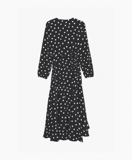 Robe Polka Dot Wrap