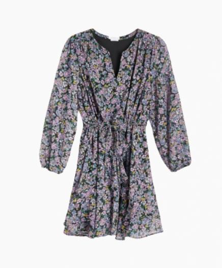 Robe Fleurie Lilas