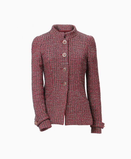 Veste Tweed Bordeaux