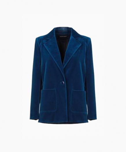 Veste Velours Bleu
