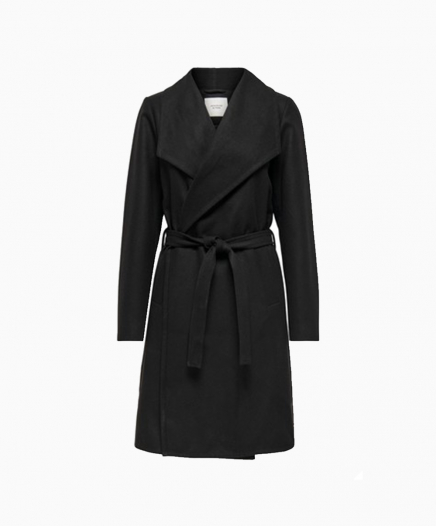 Manteau croisé noir
