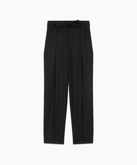 Pantalon à Pinces en Laine Vierge