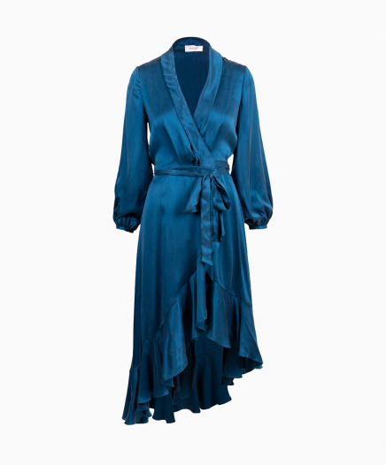 Robe Wrap Flounce Turquoise