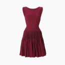 Robe Corolle Bordeaux