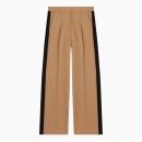 Pantalon à Pinces et Bandes Contrastées