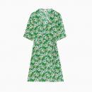 Robe Floral Wrap Dress Green