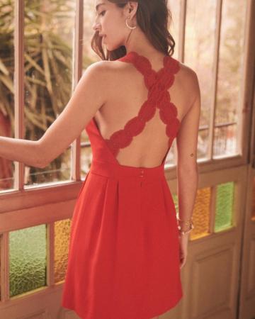 Robe Ombeline rouge