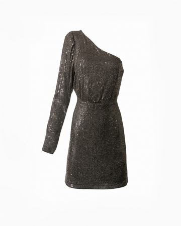 Robe One Shoulder Sequin