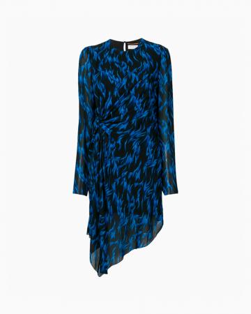 Robe Blue Fauve Print