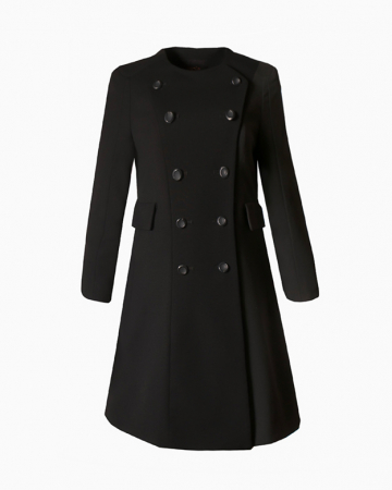 Manteau Wool Noir