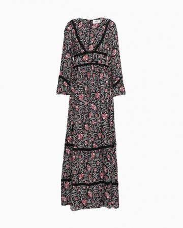 Robe Floral Print Long