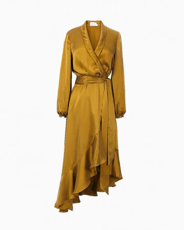 Robe Wrap Flounce Bronze