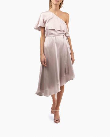 Pink One Shoulder dress