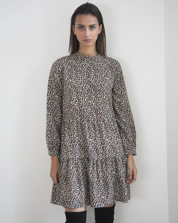 Robe Animal Print Marron