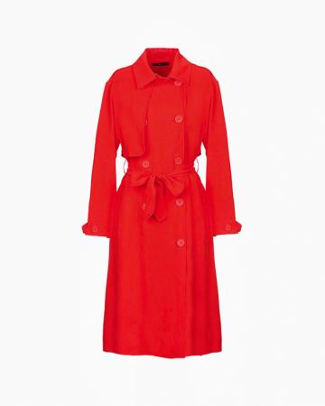 Manteau Long rouge