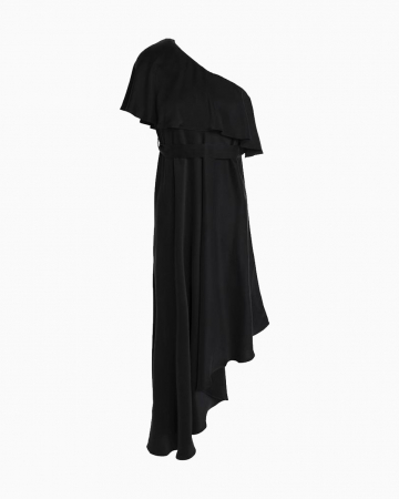 Robe One Shoulder Noire
