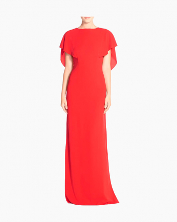 Robe Red Crepe