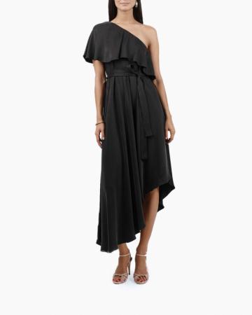 Robe One Shoulder Noire