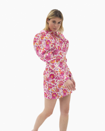 Rasberry Rose Combo Dress