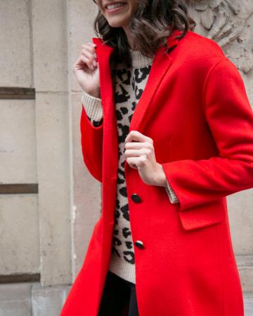 Manteau Laine rouge