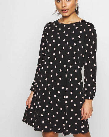Robe Polka Dot Black & White