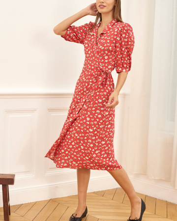 Robe Louisa Mamie Rose Rouge