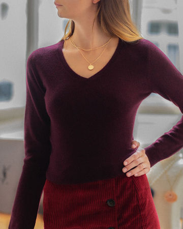 Pull Vicky Bordeaux