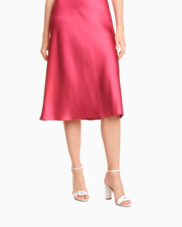 Pink Satin Tricia Skirt