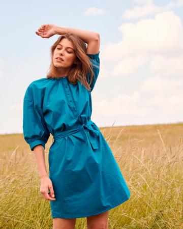 Robe Bleu Pétrole