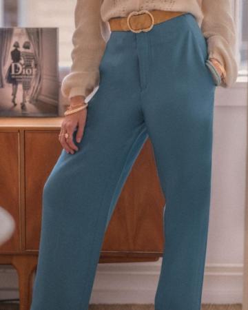 Pantalon Mandarin Bleu