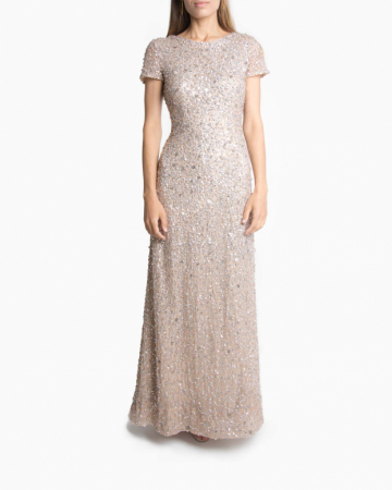 Robe Scoop Champagne